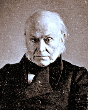 John Quincy Adams. Cropped copy of 1843 Daguer...