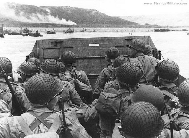 Troops ready for storming the beach